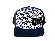 Youth Colorable Squares Hat / Mesh Back