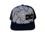 Youth Colorable Swirls Hat / Mesh Back