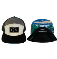 NEW! 7 Panel - Black / Gray