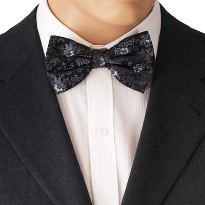 Black Floral Bow Tie