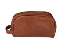 Italian Leather Toiletry Bag
