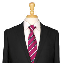 Magenta Striped Tie