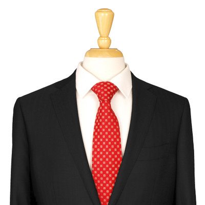 Red Patterned Silk Tie
