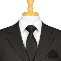 Black Italian Silk Tie