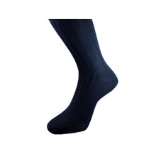 Michel Rouen Navy Cotton Socks