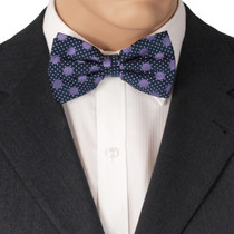 Purple Spotted Bowtie