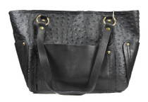 Ostrich Effect Leather Handbag