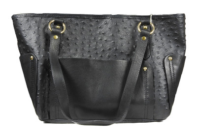 Ostrich Effect Leather Handbag