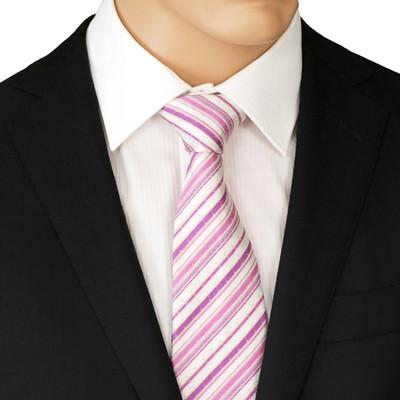 Pink Striped Necktie