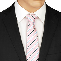 Pale Pink Striped Tie