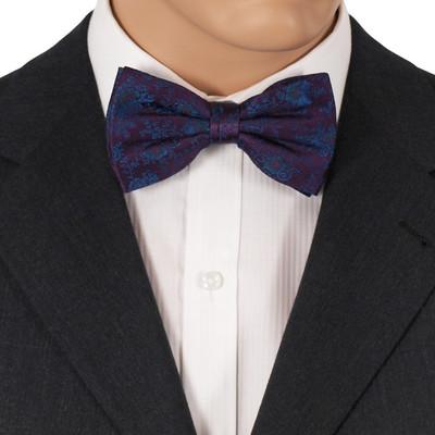 Purple Silk Bow Ties