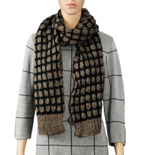 Chocolate Brown Knitted Scarf