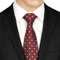 Maroon Dotted Silk Tie