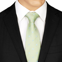 Green Dotted Tie