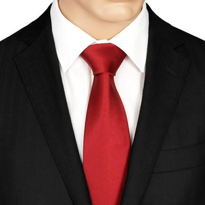 Ruby Red Silk Tie