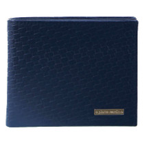 Navy Embossed Weave Wallet