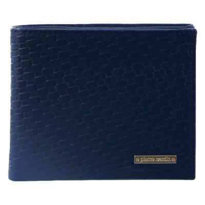 Navy Embossed Bifold Wallet