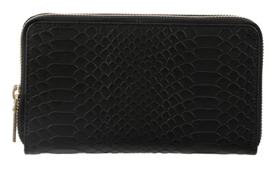 Black Snakeskin Effect Wallet