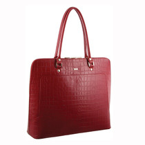 Red Croc Embossed Business Tote