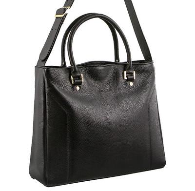Pierre Cardin Black Leather Shoulder Bag