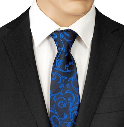Blue Patterned Tie