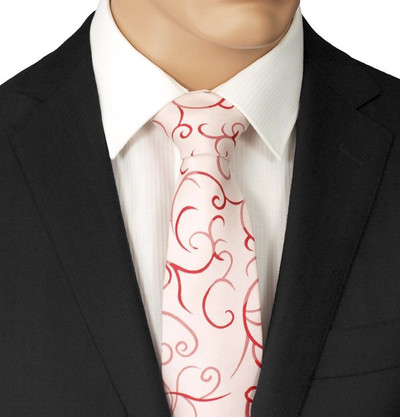 Pink Patterned Tie