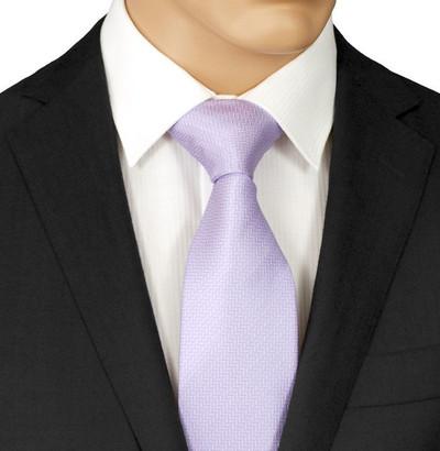 Lilac Herringbone Necktie