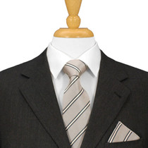 Silver Striped Necktie