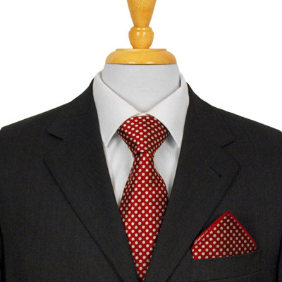 Dark Red Dotted Ties