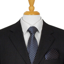 Navy Blue Dotted Ties