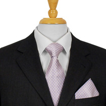 Lilac Dotted Silk Tie