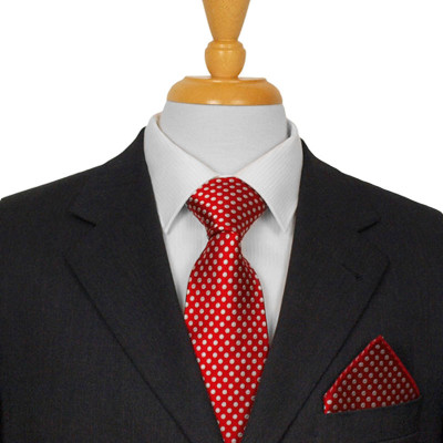 Red Spotted Silk Tie