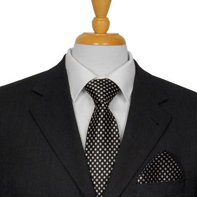 Black Dotted Tie