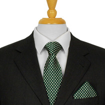 Dark Green Spotted Ties