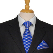Royal Blue Dotted Tie