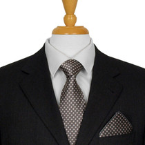 Charcoal Dotted Tie