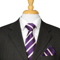 Aubergine Striped Tie