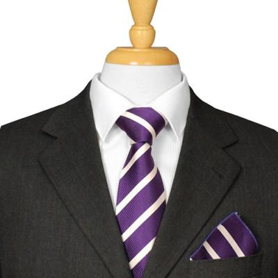 Aubergine Striped Tie