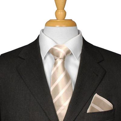 Champagne Striped Tie