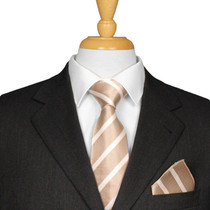 Mocha Striped Tie