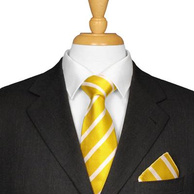 Yellow Striped Tie