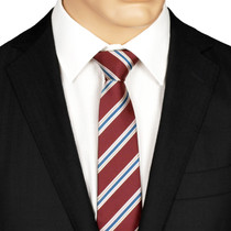 Silk Maroon Striped Tie