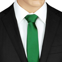 Plain Green SilkTie