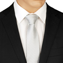 Silver Striped Ties