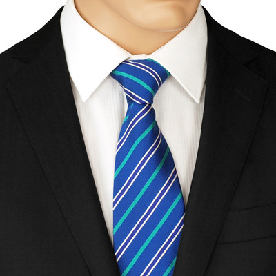 Blue And Green Striped Tie