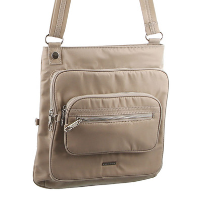 Taupe Anti Theft Cross Body Bag