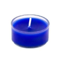 Handmade organic soy wax blue tealight candles pack of 12