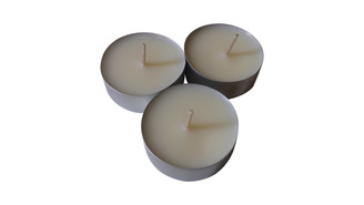 Organic soy wax tea light
