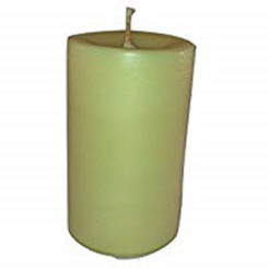 "Handmade Organic Golden yellow honey beeswax pillar candle 2.85"" x 4.6""  14.5oz"