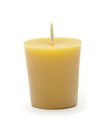 Handmade votive beeswax candles